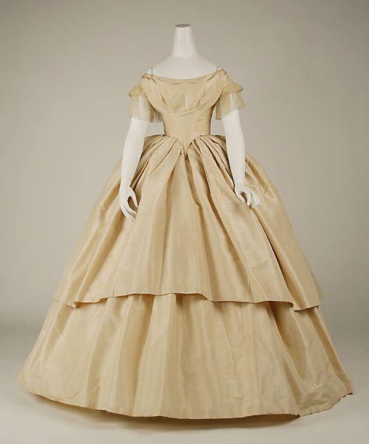 Wedding dress Date: 1858–59 Culture: American Medium: silk