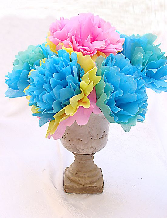 How to make crepe paper flowers..