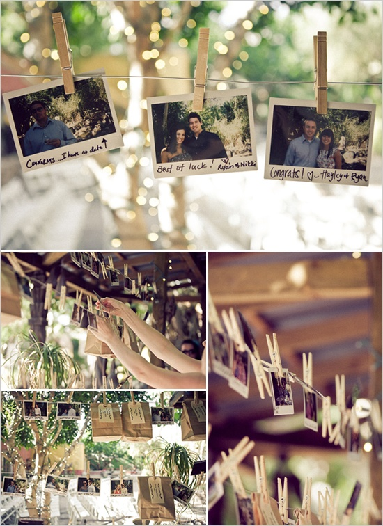 Hanging pictures with clothespins