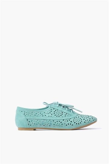 Cut-Out Oxford Flats