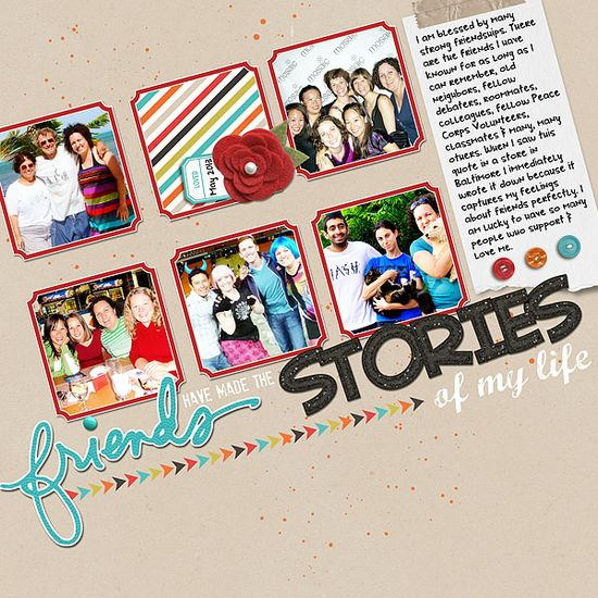 Jazz up Favorite Scrapbook Layout Designs by Putting them On An Angle