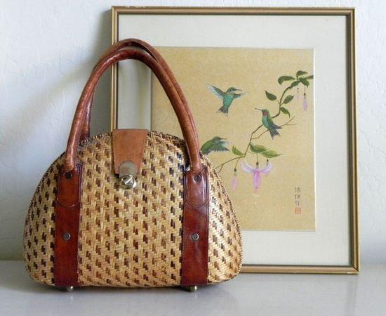 Large Woven Vintage Handbag