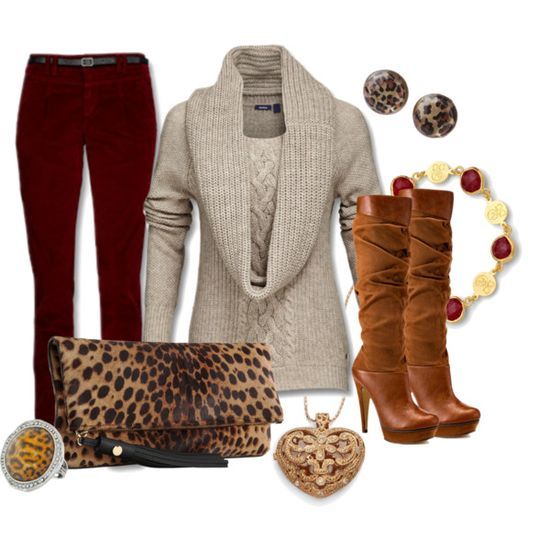 cozy'n up to the animal prints - Polyvore