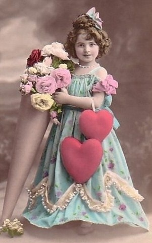 Cute Little Girl in Vintage Photo