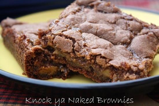Mommy's Kitchen: Knock Ya Naked Brownies {Potluck Sunday}