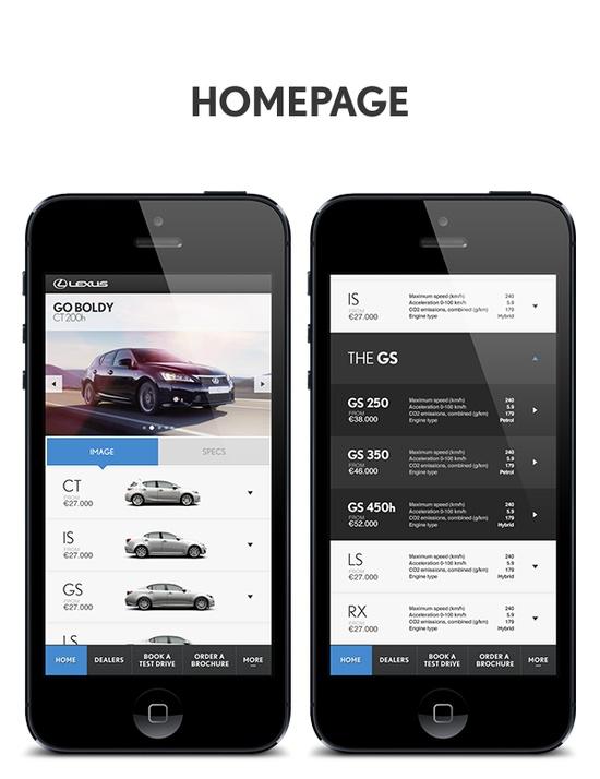 #Lexus Mobile by Sean Hobman, via #Behance #Mobile  #UI #Design