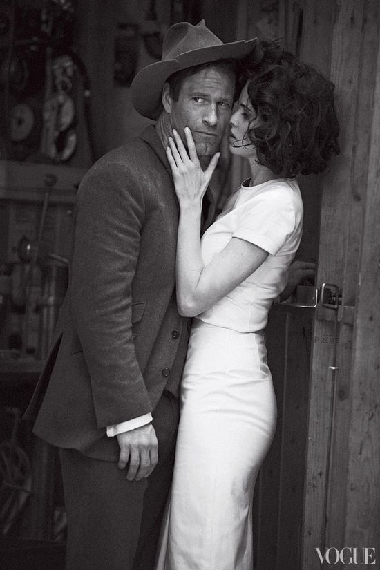 Love In The Afternoon - Lara Stone & Aaron Eckhart by Peter Lindbergh Vogue US