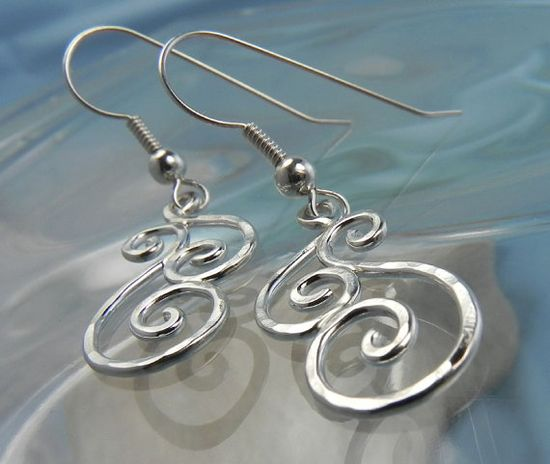 Swirls spiral earrings #silver #jewelry #swirl #spiral #earrings