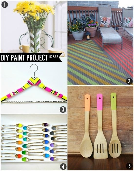 Budget Styles: Five DIY Paint Home Decor and Houseware Projects #diy #paint #decorating #crafts #projects