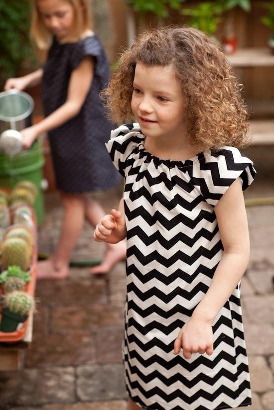 chevron + dress #girl #dress #chevron
