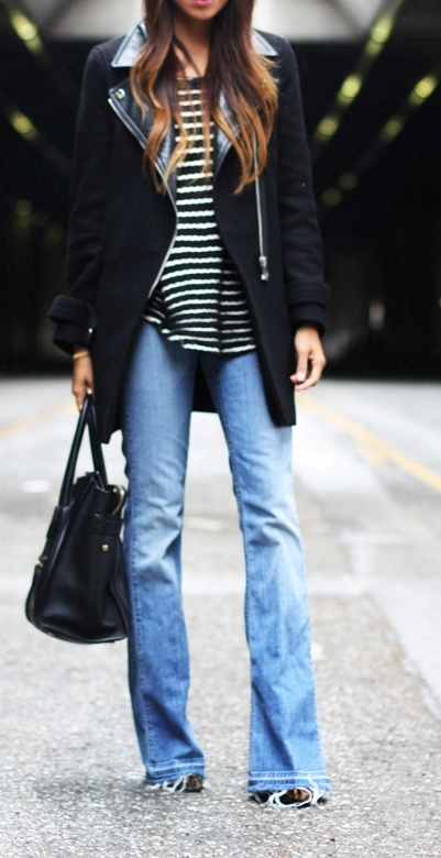 casual jeans and stripes