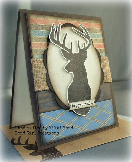 Deer  Buck  Handmade Birthday Card