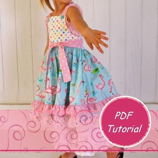 Halter Dress Tutorial - Detailed diagrams and measurements.