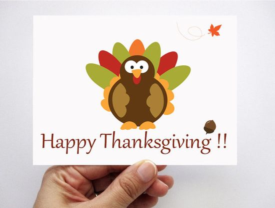 adorable Thanksgiving cards by Mariapalito #thanksgiving #cards #gifts $3