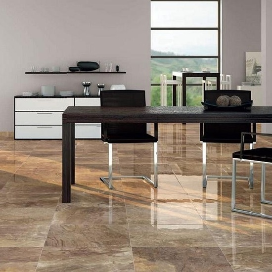 High shine, super modern floor tile. Get creative with this brilliant finish.