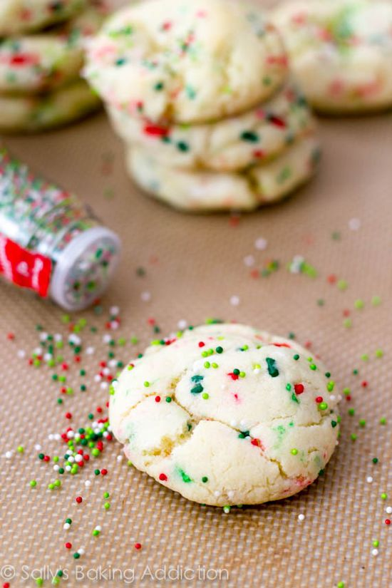 THE BEST ! Holiday Confetti Cake Batter Cookies. (Melt in your Mouth)!