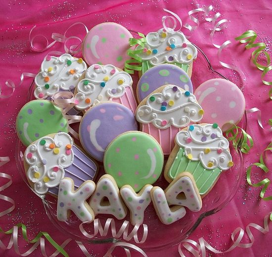 cupcake party cookies