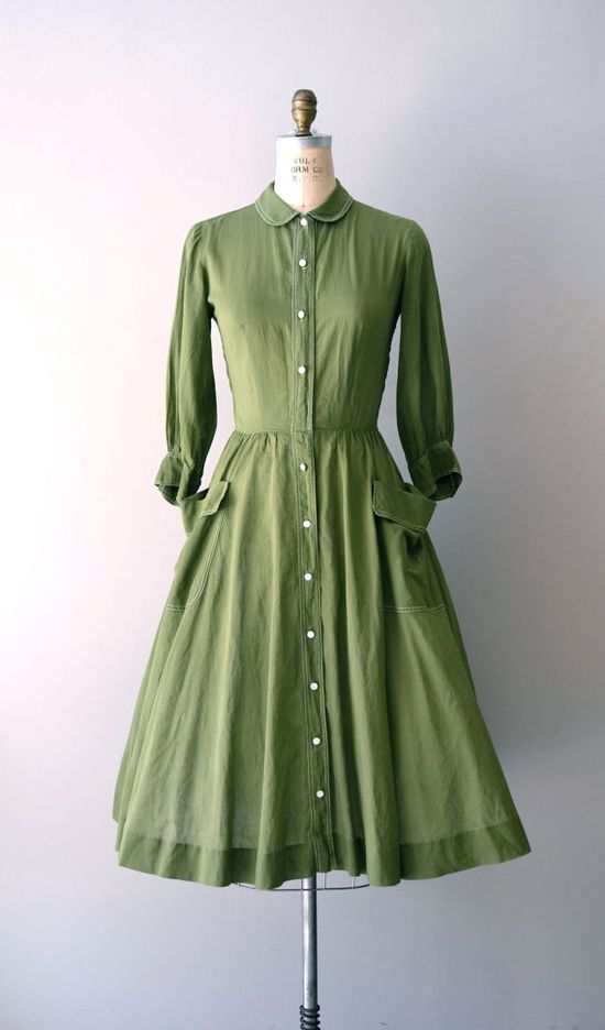 1950s dress Fair Play dress     #vintage #vintagedress #peterpancollar