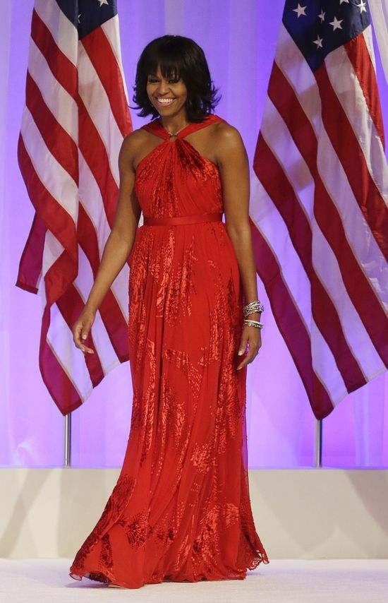 #MichelleObama looks gorgeous at the #InauguralBall tonight! #Obama