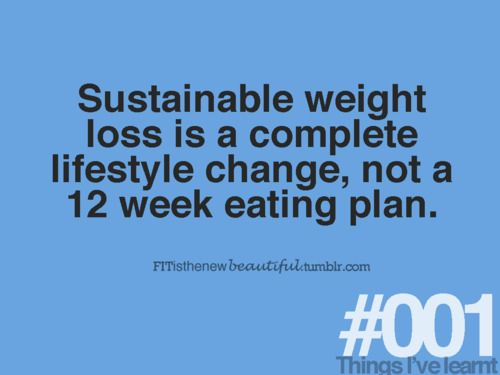 A lifestyle change