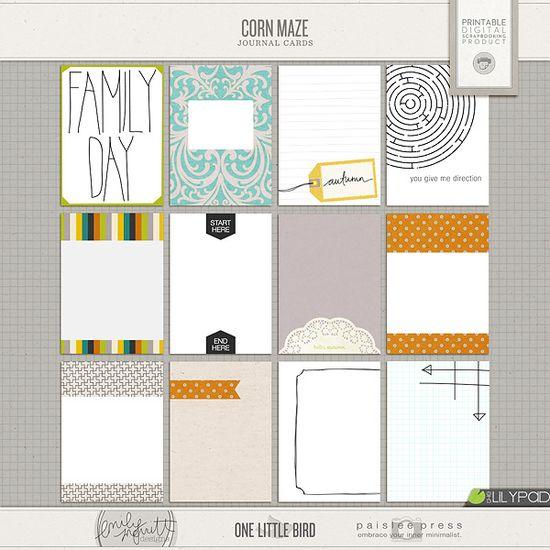 Corn Maze Journal Cards