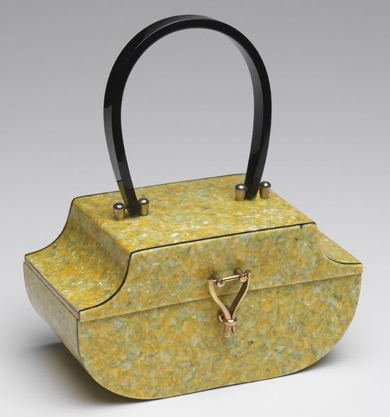 """Crushed crayons"" lucite handbag. #vintage #handbags #purses #accessories"