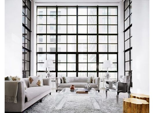 unique living room design with large windows - Home and Garden Design Ideas