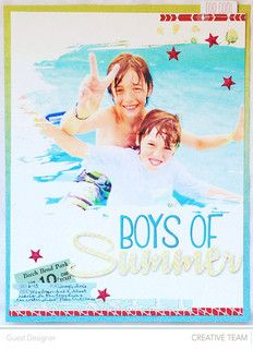 Boys of Summer by guest designer Agomalley using Studio Calico's Double Scoop main kit