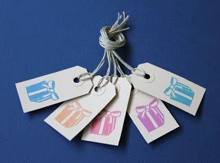Handmade gift tags ikstempel.etsy.com
