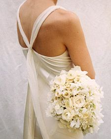 True Classic White Bridal Bouquet by Matthew Robbins for Martha Stewart Weddings