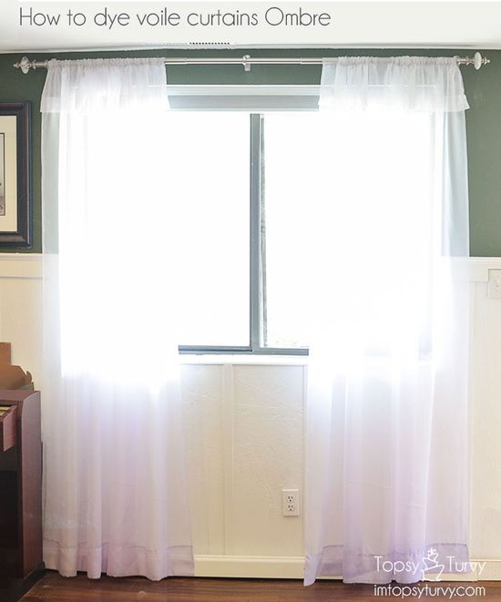 Im Topsy Turvy: how to dye voile curtains ombre