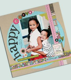 #papercraft #scrapbook #layout Feeling happy :) #inspiration