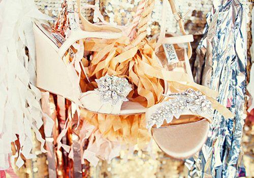 DIY Embellished Wedding Shoes