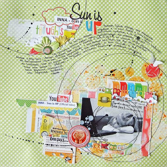 #papercraft #scrapbook #layout by Piglet-s