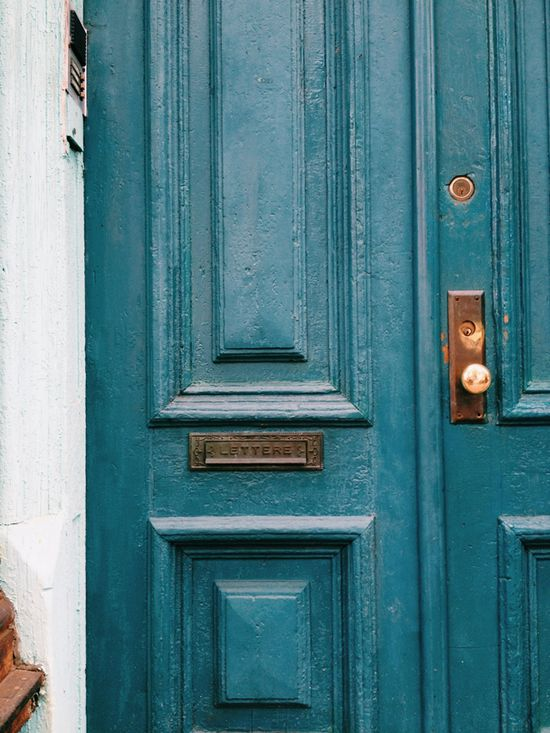 dark turquoise door - beautiful