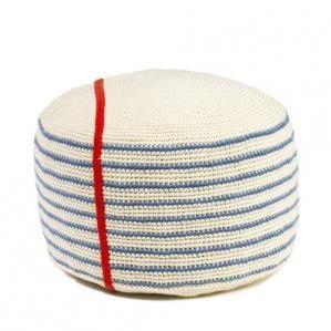 notebook striped pouf