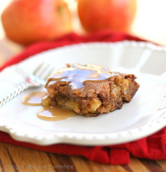 Apple Pudding Cake with Cinnamon Butter Sauce. Fall is here...
