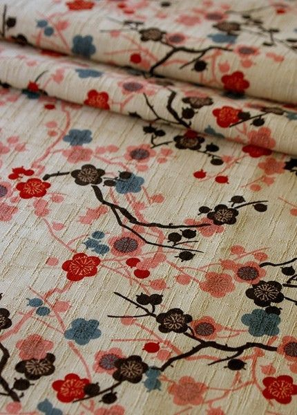 This fabric would be great in the apt-- maybe as a table cloth or curtains or over an end table, really anywhere