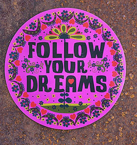 FOLLOW your Dreams car magnet
