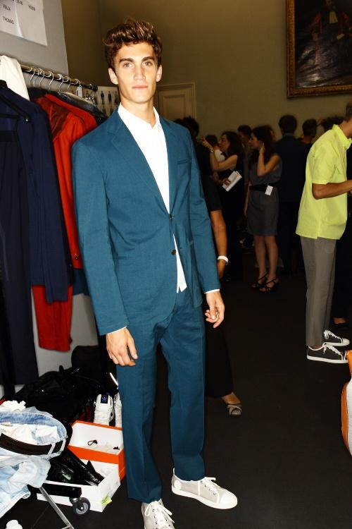 Hermes SS13 Men Fashion Show Paris Backstage - sonny photos