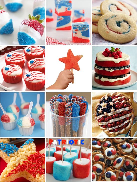 4th of July Treats, Red White & Blue Patriotic desserts