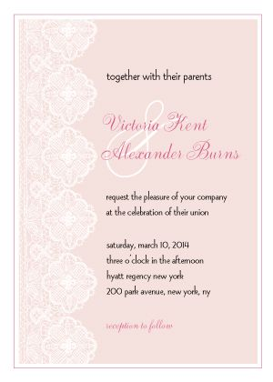 Wedding Invitations - Handmade Lace
