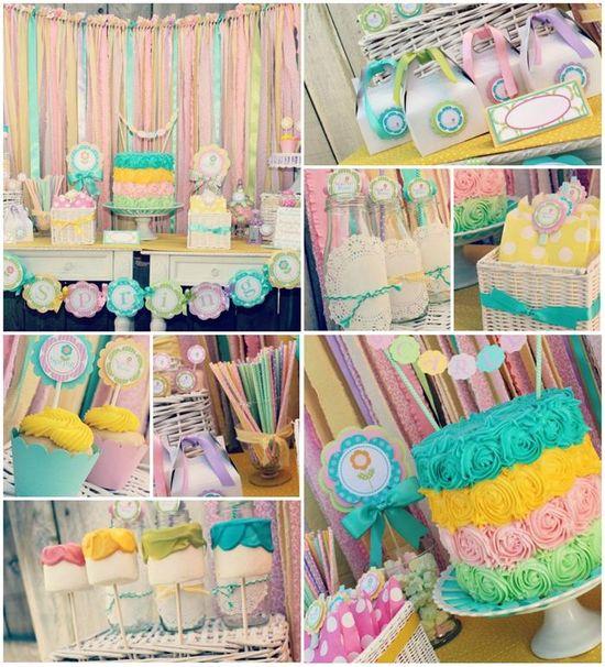 Summer Bliss Party FULL of DARLING IDEAS via Kara's Party Ideas