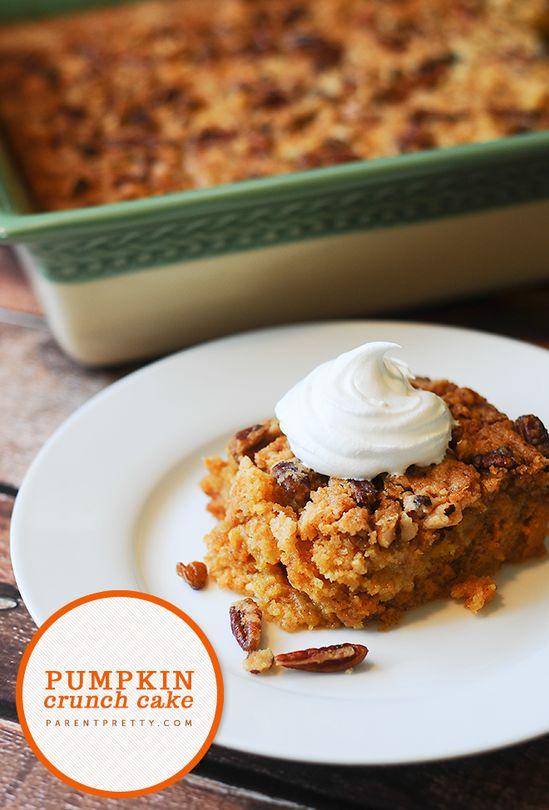 Pumpkin crunch cake! This is THE best fall dessert
