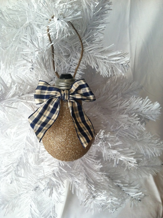 Handmade Christmas Ornaments, Lightbulb Ornaments, Christmas Ornaments Handmade by Creativebaggage on Etsy. $7.95, via Etsy.