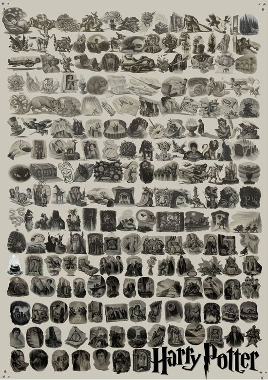 Every 'Harry Potter' Chapter Illustration Collected in One Lovely Poster