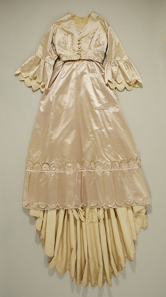 Dinner Dress 1869, American, Made of silk