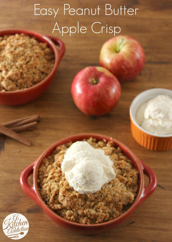 Easy Peanut Butter Apple Crisp from @Jess Pearl Pearl Liu l A Kitchen Addiction