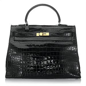 Hermes Vintage Crocodile Kelly Handbag