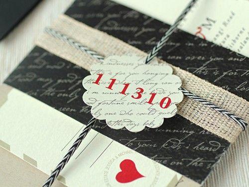 save the date/wedding invite